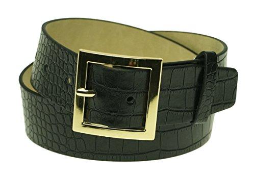 Style & Co. Women's Croco Pilgrim Buckle Belt Medium (Pilgrim Buckle)
