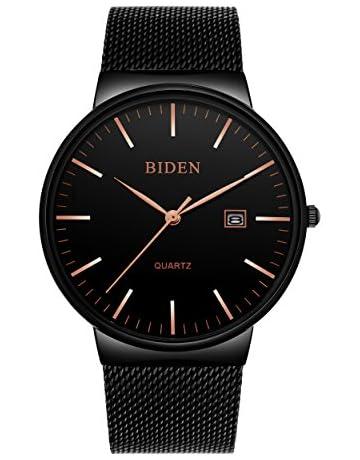 15e31fb3f428d Mens Watch Wrist Watches Business Casual Super-Thin Quartz Watch for Men  Boys