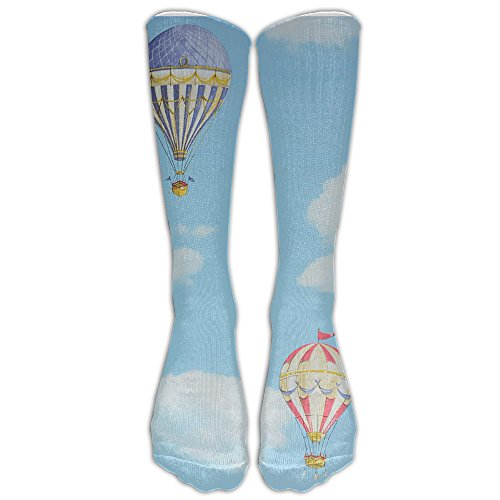 Hot Air Balloon Painting Comfort Casual Fashion Long Socks For Running ,Sport And Travel