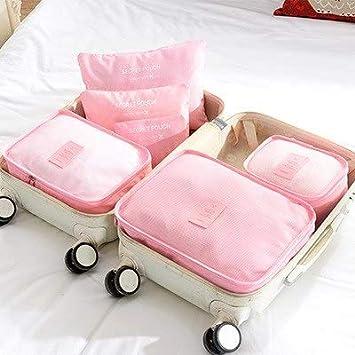 ee6eba62af85 Amazon.com: Saasiiyo 6PCS/SET travel storage set waterproof clothes ...