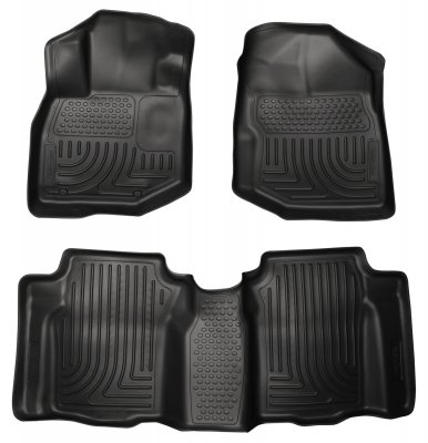 Husky Liners 98491 WeatherBeater Combination Front & Back Seat Floor Liner - (3
