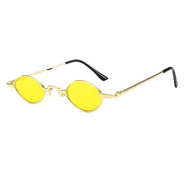 Mxssi Gafas de sol ovaladas pequeñas lentes vintage redondos ...