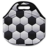 Baseball Softball Zipper Cooler Lunch Bag Insulated Gifts Washable Neoprene (Soccer)