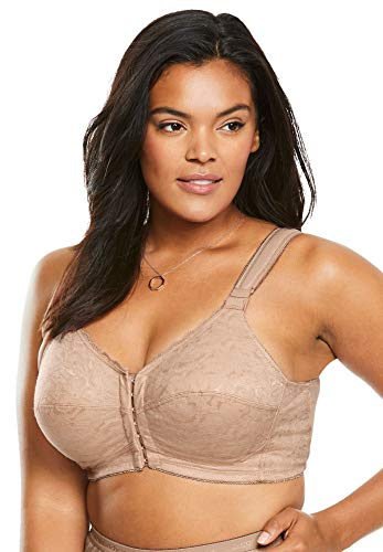 Comfort Choice Women's Plus Size Lace Wireless Posture Bra - Nude, 54 G