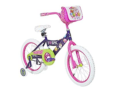 Shopkins Girls Dynacraft Bike, Purple/Pink/Green/White, 18""