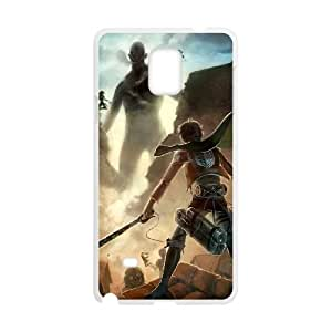 Attack On Titan Samsung Galaxy Note 4 Cell Phone Case White y2e18-001250