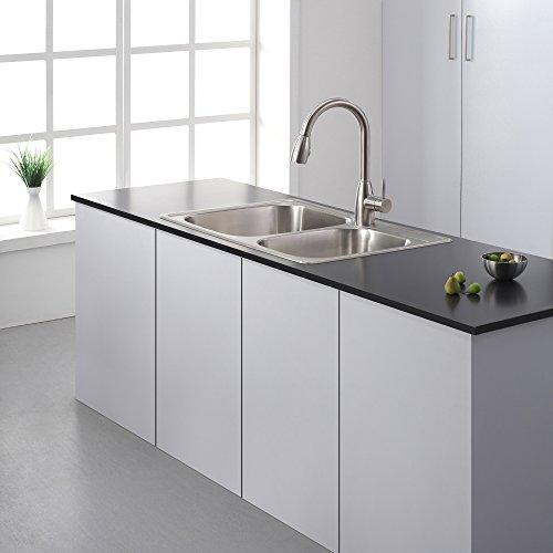 Kraus KTM32 33 inch Topmount 60/40 Double Bowl 18 gauge Stainless Steel Kitchen Sink by Kraus (Image #7)
