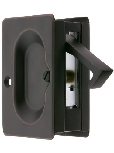 Premium Quality Mid-Century Pocket Door Passage Set In Oil-Rubbed Bronze. Pocket Door Hardware. by Emtek by Emtek