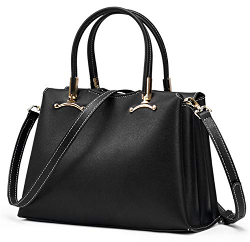 Backpack Leather black Shoulder Bag European Slung Female Portable One Top Yeying123 Fashion And American Layer IA6UwOqPq