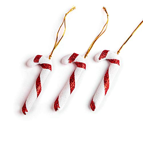 Riverbyland 24 PCS Christmas Gift Wrapping Candy Cane Decoration