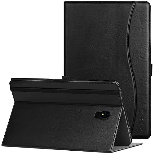 Ztotop Folio Case for Samsung Galaxy Tab A 10.5 Inch 2018(SM-T590/T595/T597), Premium Leather Folding Stand Cover with Auto Wake/Sleep, Pencil Holder and Multiple Viewing Angles,Black