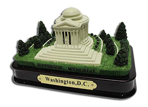 Jefferson Memorial Desk Statue with wood base , Washington DC Souvenirs, Washington D.C. Gifts