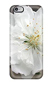 Protective Tpu Case With Fashion Design For Iphone 6 Plus (white Flowers )