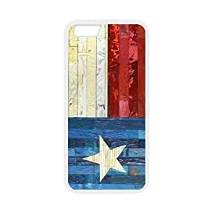 inches Slim And Stylish Texas State Flag - Wall Painting Pattern Pattern iphone 4 4s TPU(Laser Technology) Case Cover for White And Black