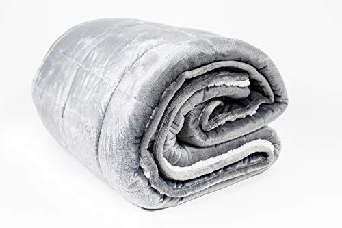 Cheap Serene Dreams Premium Weighted Blanket Throw | Soft Plush Luxury Organic Sherpa & Mink | No Leak | Best Blanket for Adults & Kids | 15lbs 48