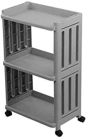 Vcansay 3 Tiers Kitchen Rolling Storage Trolley Utility Serving Cart