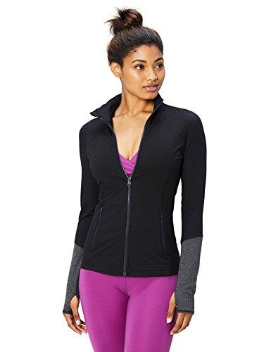 (Core 10 Women's Icon Series - The Ballerina Full-Zip Jacket, black, Medium)