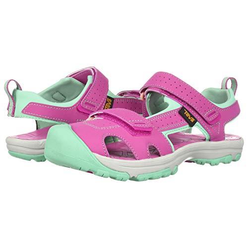 Teva Girls' K Hurricane Toe PRO Sport Sandal, Raspberry, 3 M US Little Kid - Shoe Sport Raspberry