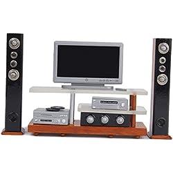 1/12 Dollhouse Miniature Furniture TV DVD Surround Sound Set
