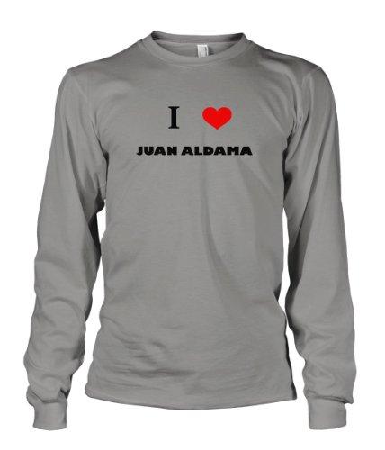 I Love Juan Aldama Mexico City Long Sleeve T-Shirt Tee Top Sports Gray 3XL