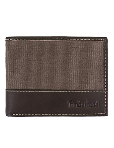 Embossed Dress Form - Timberland Men's Baseline Canvas Passcase, Brown, One Size