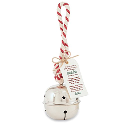 Santa's Jingle Bell Christmas Holiday Decoration by Mud Pie
