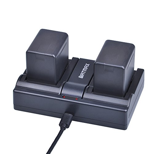 Batmax 2Packs VW-VBT380 VW-VBT190 Battery (3900mAh) + Dual USB Charger for Panasonic HC-V210, HC-V250, HC-V380, HC-V510, HC-V520, HC-V550, HC-V710, HC-V720, HC-V750, HC-V770, HC-VX870, HC-VX981