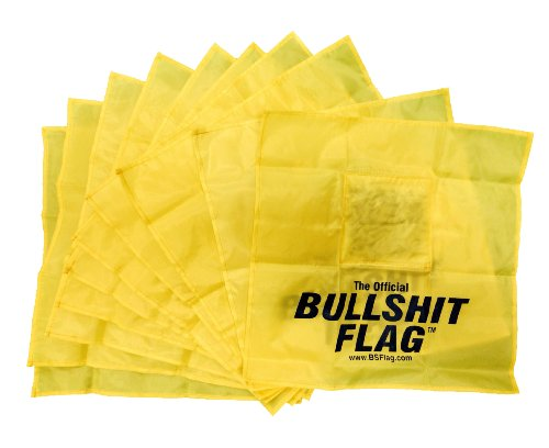 - BSIndustries Original Censored BSFlag - Yellow - Fun at the Office and at Home and Use for Political Strike Message - Pack of 10