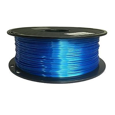 Silk Sapphire Blue 3D Printer Filament PLA 1.75 mm 1 KG (2.2 LBS) Shine Silky Shiny Blue PLA CC3D ZHUOPU