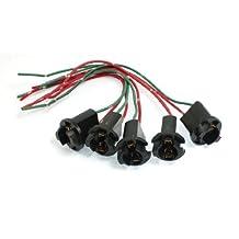 DealMux T10 W5W LED Light Bulb Socket Wire Connector 5 Pcs