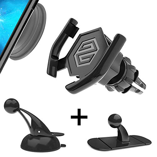 SPINOO Universal Car Phone Mounts for Pop Grip Users – Includes Custom Phone Grip Socket & 3 Adjustable & Sturdy Pop Grip Car Mounts Such as 1 Windshield Mount, 1 ()