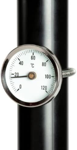 Thermometer Clip On Tool Kit Spring 60mm Spring Hot Water Pipe Thermometer Gauge