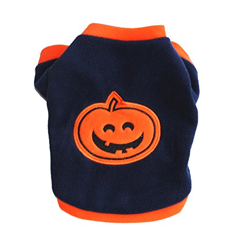 Small Dog Autumn Clothes , Pet Puppy Winter Warm Sweater Pumpkin Halloween Hoodies Cat Breathable Soft Outwear Pet Costumes For Yorkshire Chihuahua (M, Dark (Shih Tzu Ewok Costumes)
