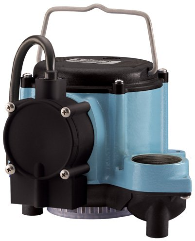 Little Giant Pump 506158-6-CIA Submersible Sump Pump - 46 gpm, 18 ft of Head, 1-1/2 in FNPT Discharge, 1/3 hp