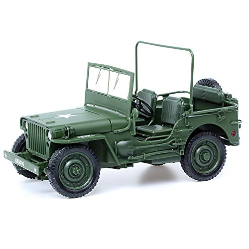 (duturpo 1/18 Scale Diecast Willys Jeep Military US Army Vehicle Model Toys for Kids (Army Jeep))