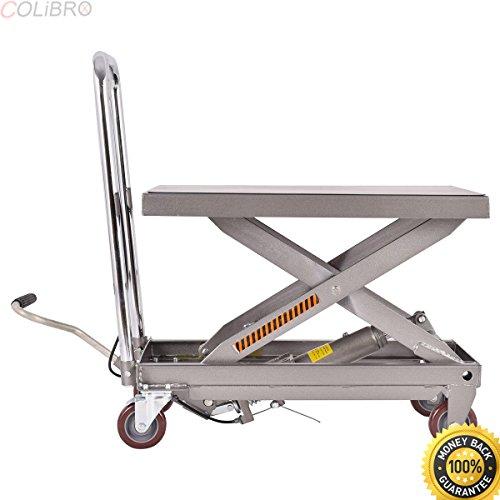 COLIBROX--Rolling Table Cart 500LB Capacity Hydraulic Cart W/Foot Pump Dolly Heavy Duty. hydraulic scissor lift table. grizzly hydraulic table. lift table harbor freight. scissor lift table for sale.