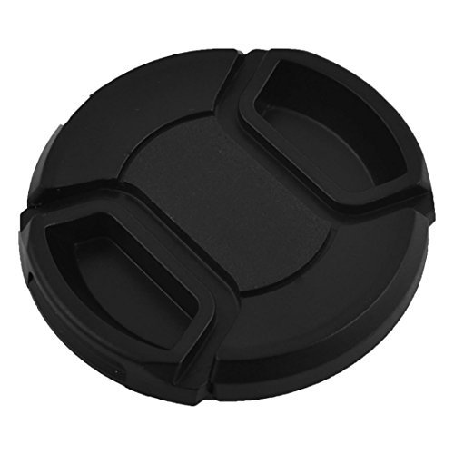 DealMux Plastic Front Snap Digital Camera Clip-on Lens Cap Cover 52mm Black w Cord ()