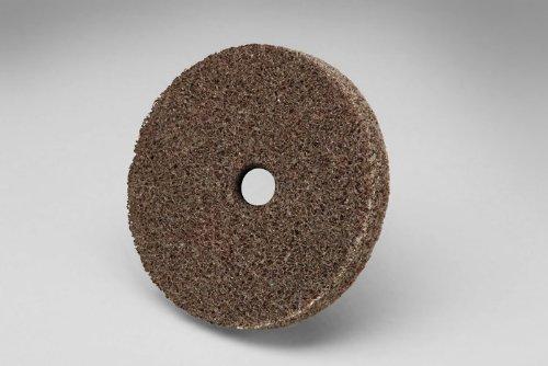 3M Scotch-Brite XL-UW Unitized Aluminum Oxide Medium Deburring Wheel - Coarse Grade - Arbor Attachment - 2 in Dia 1/4 in Center Hole - Thickness 1/4 in - 22100 Max RPM - 13755 [PRICE is per WHEEL]