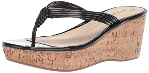 - Circus by Sam Edelman Women's Ruby Wedge Sandal, Black Patent, 6.5 M US