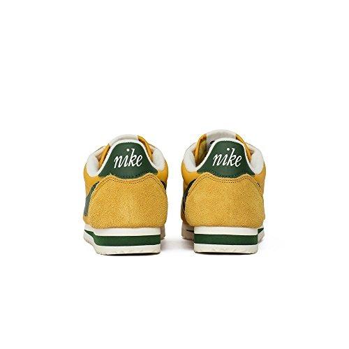 Nike Formateurs En Nylon Classique Cortez Jaune Ocre / Gorge Vert