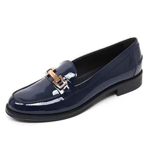 Shoe Vernice Chiaro Blu Mocassino Chiaro Tod's Scarpa Loafer B7652 Woman Donna blu gZww0I
