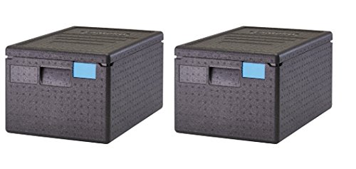 Cambro EPP180SW110 Cam GoBox Top-Loader Food Pan Carrier, Black (Pack of 2)