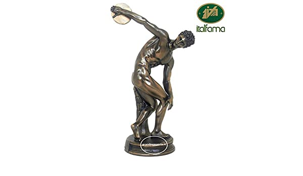 Estatua del Discobolo de mirone, de resina bronce acabado a mano ...