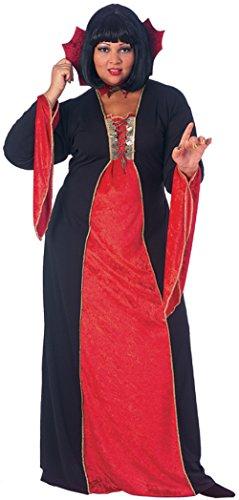 [Rubies Womens Gothic Vampiress Devil Theme Party Halloween Fancy Costume, Plus (16-20)] (Cheap Ladies Devil Costume)
