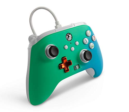 PowerA Enhanced Wired Controller for Xbox – Seafoam Fade, Gamepad, Wired Video Game Controller, Gaming Controller, Xbox Series X|S, Xbox One – Xbox Series X (Only at Amazon) 41TZEgiX7UL