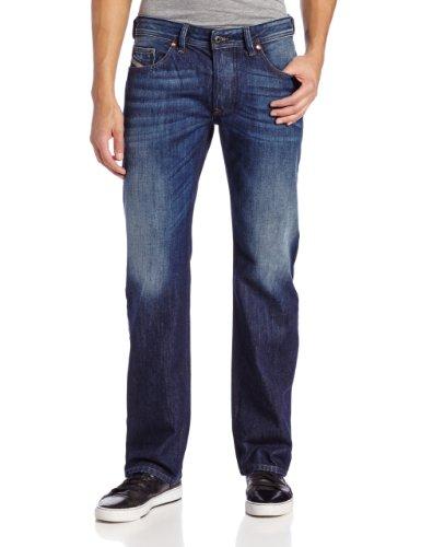 Diesel Men's Larkee Regular Straight-Leg Jean 0823G, Denim, 36x32