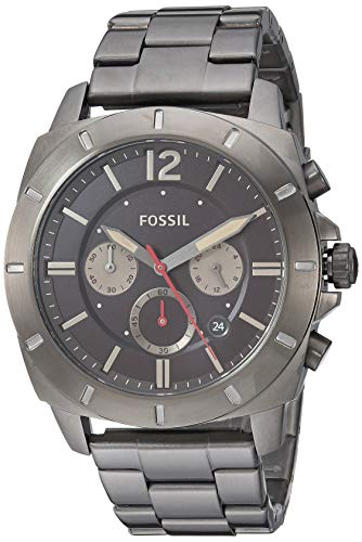 Fossil Men's Quartz Stainless-Steel Strap, Grey, 23 Casual Watch (Model: BQ2413IE)