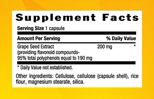 Country Life Grape Seed Extract 200 Mg Veg Caps , 60-Count