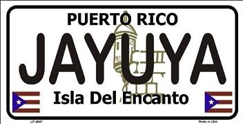 PUERTO RICO SAN LORENZO ISLA DEL ENCANTO METAL NOVELTY LICENSE PLATE FOR CARS