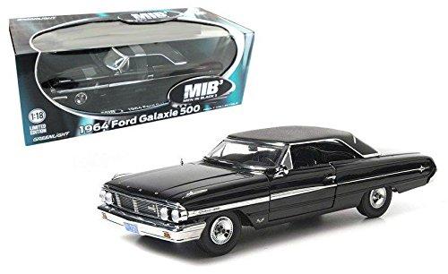 New 1:18 MAN IN BLACK 3 1964 Black FORD GALAXIE 500 AGENT Diecast Model Car By Greenlight